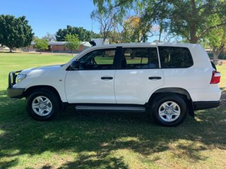 2015 Toyota Landcruiser VDJ200R MY13 GX Glacier White 6 Speed Sports Automatic Wagon