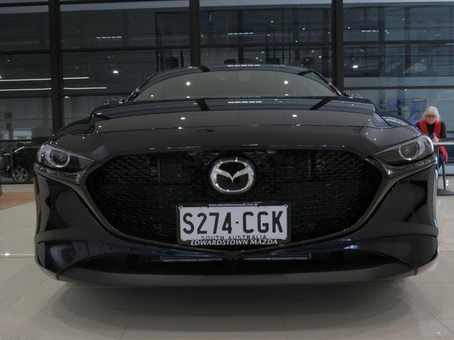 Demo Mazda 3 BP2H76 G20 SKYACTIV-MT Evolve, 2019 Mazda 3 BP2H76 G20 SKYACTIV-MT Evolve Deep Crystal Blue 6 Speed Manual Hatchback