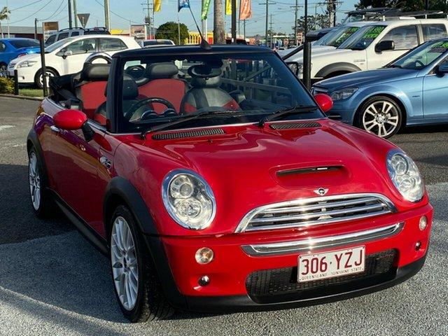 Used Mini Cabrio R52 MY05 Cooper, 2008 Mini Cabrio R52 MY05 Cooper Red 5 Speed Manual Convertible