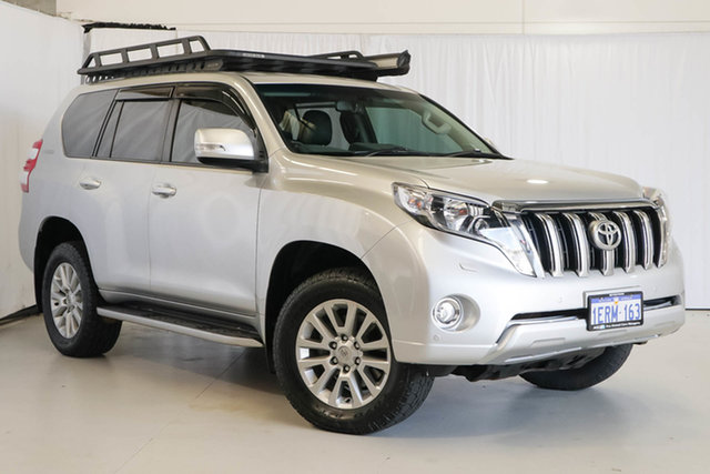 Used Toyota Landcruiser Prado KDJ150R MY14 VX, 2015 Toyota Landcruiser Prado KDJ150R MY14 VX Silver 5 Speed Sports Automatic Wagon