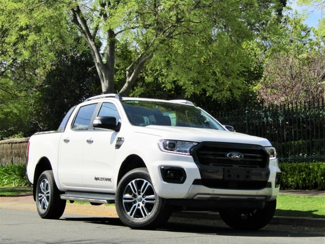 Used Ford Ranger PX MkIII 2020.25MY Wildtrak, 2019 Ford Ranger PX MkIII 2020.25MY Wildtrak White 10 Speed Sports Automatic Double Cab Pick Up