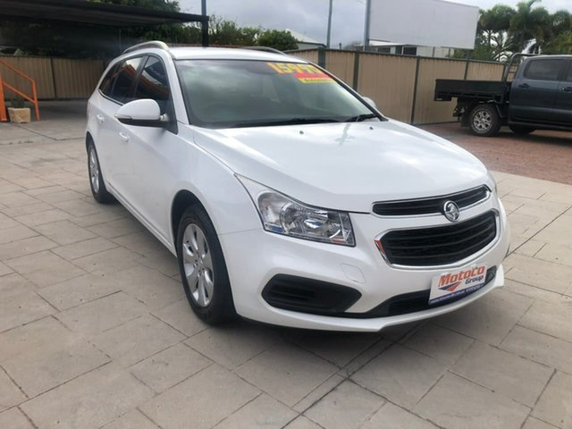 Used Holden Cruze JH Series II MY15 CD Sportwagon Mundingburra, 2015 Holden Cruze JH Series II MY15 CD Sportwagon White 6 Speed Sports Automatic Wagon