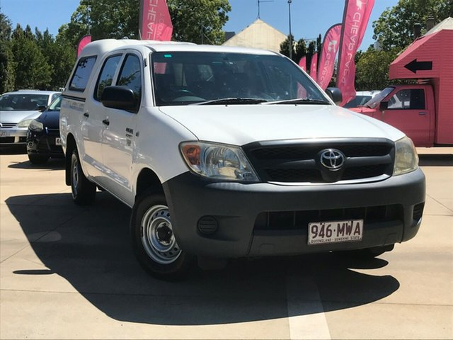 Used Toyota Hilux TGN16R MY07 Workmate 4x2, 2007 Toyota Hilux TGN16R MY07 Workmate 4x2 White 5 Speed Manual Utility