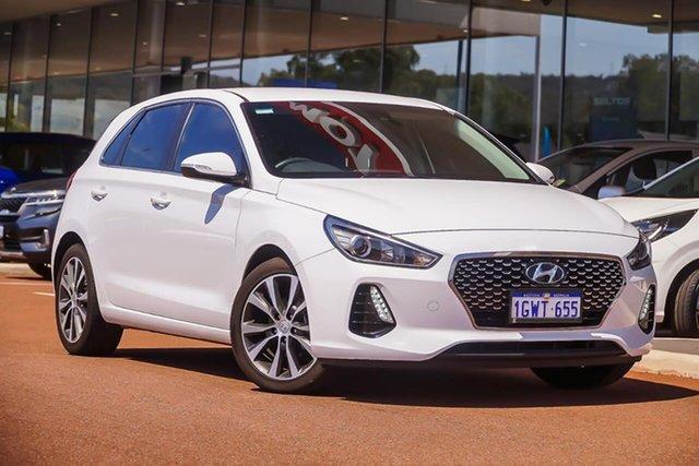 Used Hyundai i30 PD2 MY20 Elite, 2019 Hyundai i30 PD2 MY20 Elite White 6 Speed Sports Automatic Hatchback