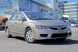 2008 Honda Civic 8th Gen MY08 VTi Beige 5 Speed Automatic Sedan.