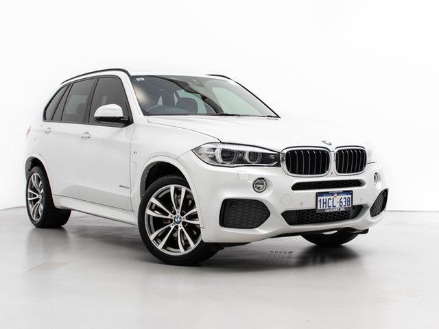 Used BMW X5 F15 MY15 xDrive 30D, 2015 BMW X5 F15 MY15 xDrive 30D Mineral White 8 Speed Automatic Wagon