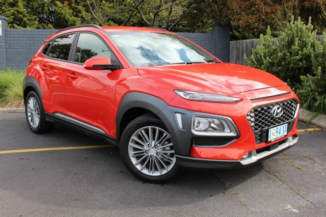 Used Hyundai Kona OS.3 MY20 Elite 2WD, 2019 Hyundai Kona OS.3 MY20 Elite 2WD Orange 6 Speed Sports Automatic Wagon