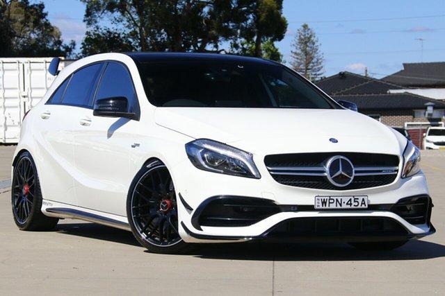 Used Mercedes-AMG A 45 176 MY16 AMG, 2016 Mercedes-AMG A 45 176 MY16 AMG White 7 Speed Auto Dual Clutch Hatchback