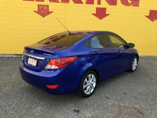 2012 Hyundai Accent RB Active Blue 4 Speed Sports Automatic Sedan