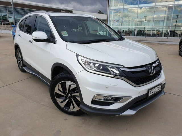 Used Honda CR-V RM Series II MY16 VTi-L 4WD, 2015 Honda CR-V RM Series II MY16 VTi-L 4WD White 5 Speed Sports Automatic Wagon