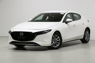 2019 Mazda 3 BP G20 Pure White 6 Speed Automatic Hatchback.