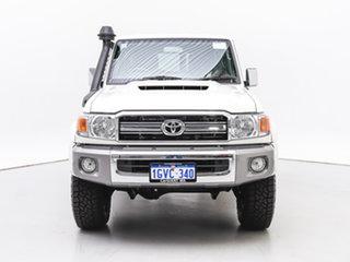 2020 Toyota Landcruiser VDJ76R GXL (4x4) White 5 Speed Manual Wagon.