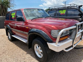 1993 Toyota Landcruiser FZJ80R GXL Red 4 Speed Automatic Wagon.