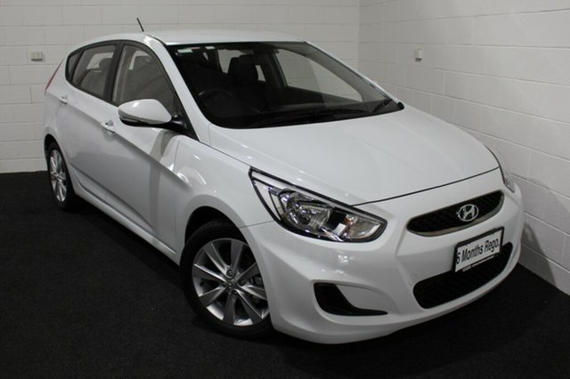 Used Hyundai Accent RB6 MY19 Sport Glenorchy, 2019 Hyundai Accent RB6 MY19 Sport White 6 Speed Sports Automatic Hatchback