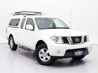 2014 Nissan Navara D40 MY12 Upgrade ST (4x4) White 6 Speed Manual Dual Cab Pick-up.