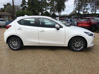 2020 Mazda 2 DJ2HAA G15 SKYACTIV-Drive Evolve White Pearl 6 Speed Sports Automatic Hatchback.