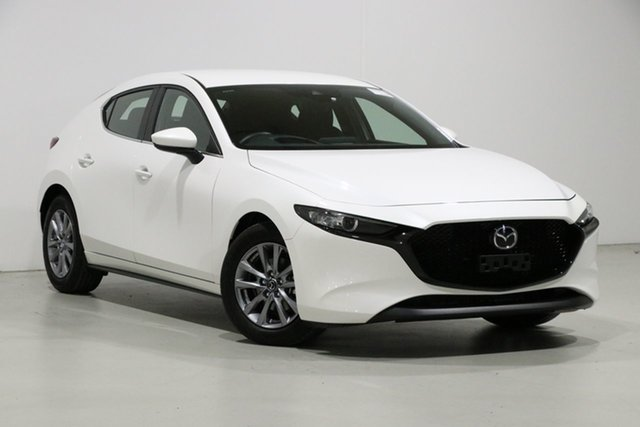 Used Mazda 3 BP G20 Pure, 2019 Mazda 3 BP G20 Pure White 6 Speed Automatic Hatchback