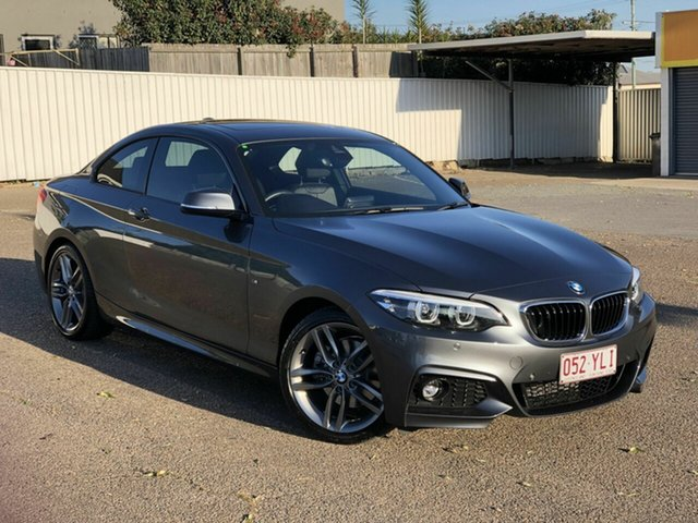 Used BMW 2 Series F22 LCI 220i M Sport Chermside, 2018 BMW 2 Series F22 LCI 220i M Sport Grey 8 Speed Sports Automatic Coupe