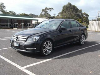 2013 Mercedes-Benz C-Class NO BADGE C200 Black Automatic Sedan.