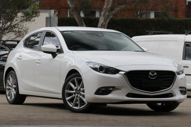 Used Mazda 3 BN MY18 SP25 (5Yr), 2018 Mazda 3 BN MY18 SP25 (5Yr) White 6 Speed Automatic Hatchback