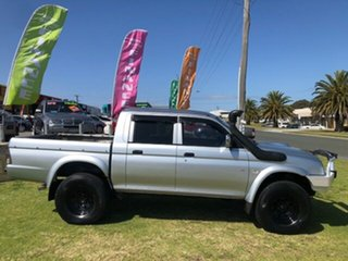 2004 Mitsubishi Triton MK MY04 GLX Double Cab Silver 5 Speed Manual Utility.