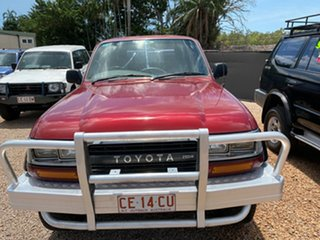 1993 Toyota Landcruiser FZJ80R GXL Red 4 Speed Automatic Wagon