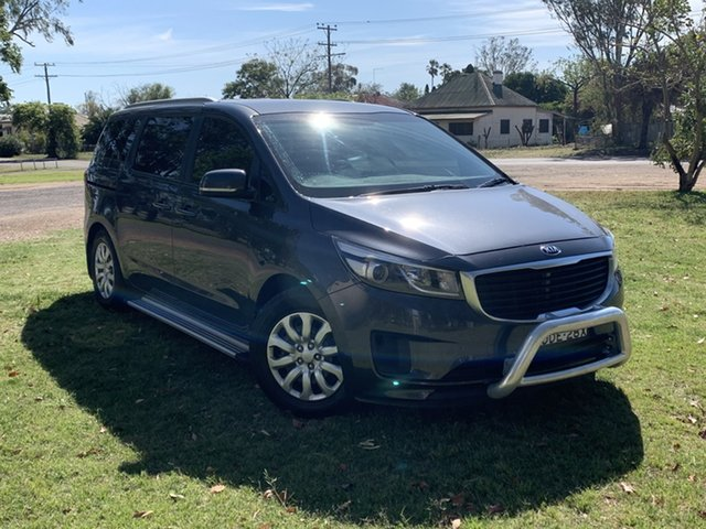 Used Kia Carnival YP MY15 S Moree, 2015 Kia Carnival YP MY15 S Grey 6 Speed Sports Automatic Wagon