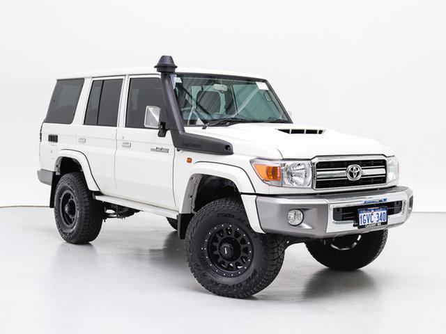 Used Toyota Landcruiser VDJ76R GXL (4x4), 2020 Toyota Landcruiser VDJ76R GXL (4x4) White 5 Speed Manual Wagon