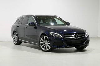 2015 Mercedes-Benz C250 205 MY16 Blue 7 Speed Automatic Wagon.