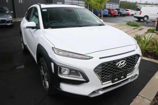 New Hyundai Kona OS.3 MY20 Highlander 2WD Mount Gravatt, 2020 Hyundai Kona OS.3 MY20 Highlander 2WD Chalk White 6 Speed Sports Automatic Wagon