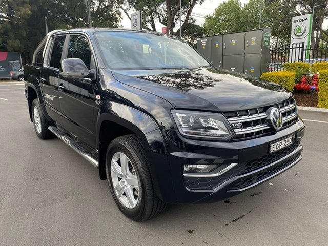 Used Volkswagen Amarok 2H MY19 TDI550 4MOTION Perm Highline, 2019 Volkswagen Amarok 2H MY19 TDI550 4MOTION Perm Highline Black 8 Speed Automatic Utility