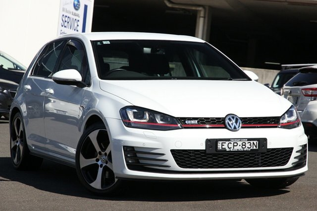Used Volkswagen Golf VII MY15 GTi, 2015 Volkswagen Golf VII MY15 GTi White 6 Speed Manual Hatchback