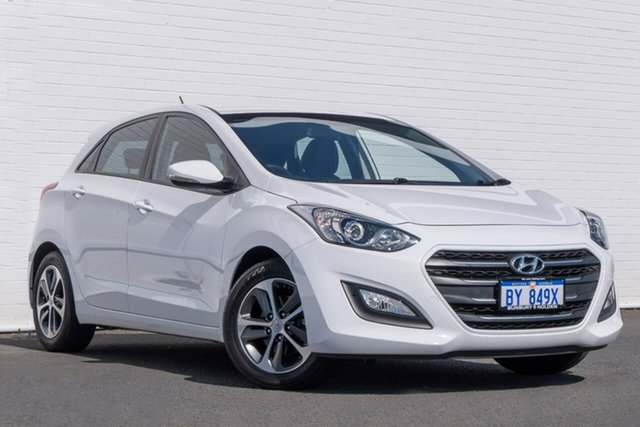 Used Hyundai i30 GD4 Series II MY17 Active X, 2016 Hyundai i30 GD4 Series II MY17 Active X White 6 Speed Sports Automatic Hatchback