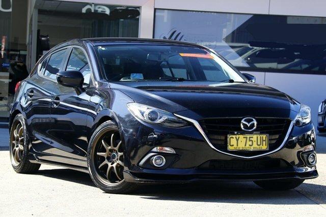 Used Mazda 3 BM SP25 GT, 2014 Mazda 3 BM SP25 GT Black 6 Speed Automatic Hatchback