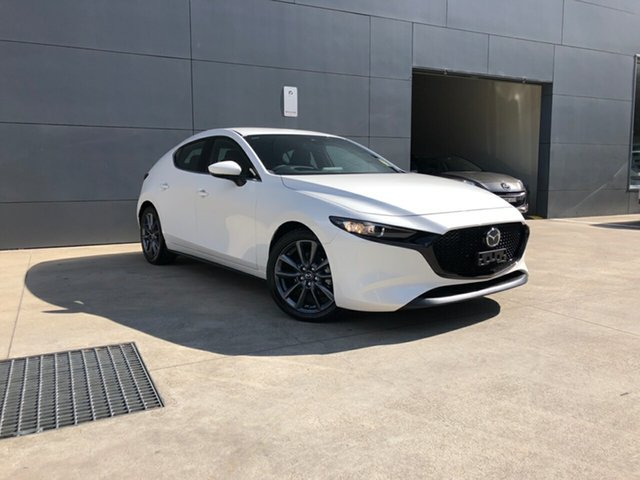 New Mazda 3 BP2H7A G20 SKYACTIV-Drive Touring, 2020 Mazda 3 BP2H7A G20 SKYACTIV-Drive Touring Snowflake White 6 Speed Sports Automatic Hatchback