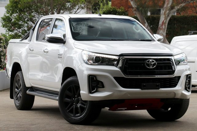 Used Toyota Hilux GUN126R MY19 SR5+ (4x4), 2018 Toyota Hilux GUN126R MY19 SR5+ (4x4) Crystal Pearl 6 Speed Automatic Double Cab Pick Up