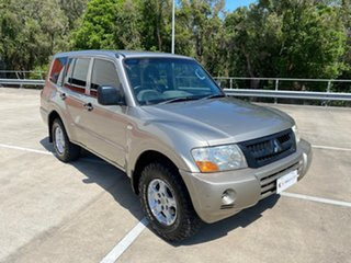 2005 Mitsubishi Pajero NP GLX LWB (4x4) Gold 5 Speed Manual Wagon.