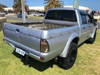 2004 Mitsubishi Triton MK MY04 GLX Double Cab Silver 5 Speed Manual Utility