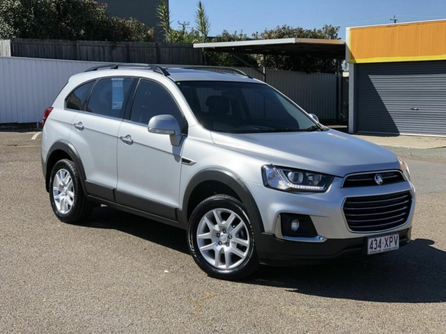Used Holden Captiva CG MY18 Active 2WD Chermside, 2017 Holden Captiva CG MY18 Active 2WD Silver 6 Speed Sports Automatic Wagon