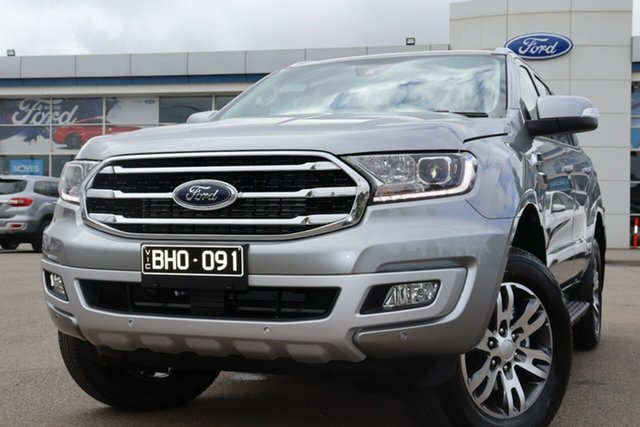 Demo Ford Everest UA II 2020.75MY Trend Deer Park, 2020 Ford Everest UA II 2020.75MY Trend Aluminium 10 Speed Sports Automatic SUV
