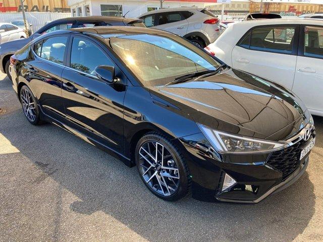 Used Hyundai Elantra AD.2 MY19 Sport DCT Premium, 2018 Hyundai Elantra AD.2 MY19 Sport DCT Premium Black 7 Speed Sports Automatic Dual Clutch Sedan