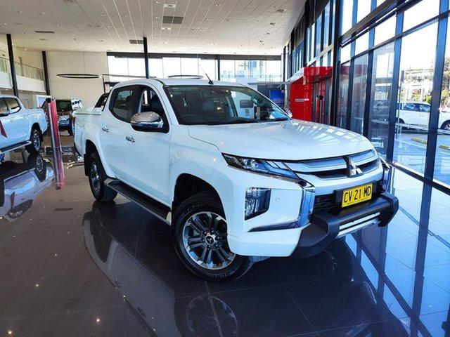 Used Mitsubishi Triton MR MY19 GLS Double Cab Premium, 2019 Mitsubishi Triton MR MY19 GLS Double Cab Premium White 6 Speed Sports Automatic Utility