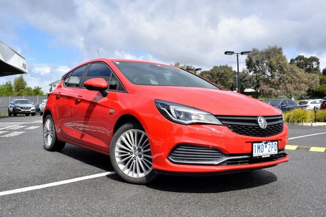 Used Holden Astra BK MY18.5 R, 2018 Holden Astra BK MY18.5 R Red/Black 6 Speed Sports Automatic Hatchback