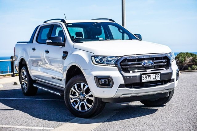 Used Ford Ranger PX MkIII 2019.75MY Wildtrak Christies Beach, 2019 Ford Ranger PX MkIII 2019.75MY Wildtrak White 10 Speed Sports Automatic Double Cab Pick Up