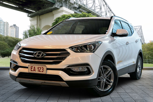 Used Hyundai Santa Fe DM3 MY16 Active, 2016 Hyundai Santa Fe DM3 MY16 Active White 6 Speed Sports Automatic Wagon