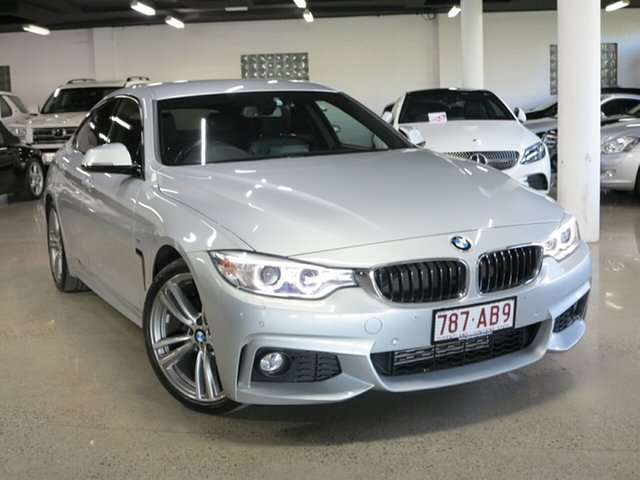 Used BMW 4 Series F36 420i Gran Coupe M Sport Albion, 2015 BMW 4 Series F36 420i Gran Coupe M Sport Silver 8 Speed Sports Automatic Hatchback