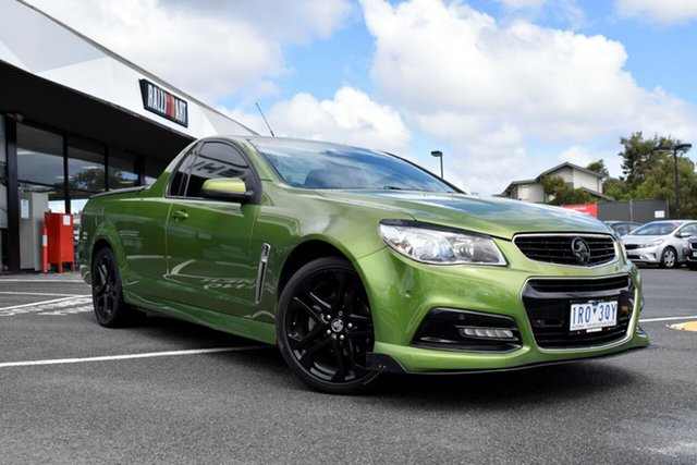 Used Holden Ute VF MY14 SV6 Ute, 2014 Holden Ute VF MY14 SV6 Ute Green 6 Speed Manual Utility