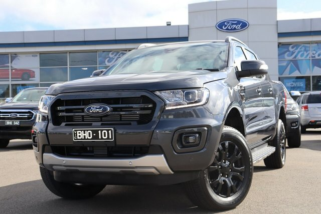 Demo Ford Ranger PX MkIII 2020.75MY Wildtrak, 2020 Ford Ranger PX MkIII 2020.75MY Wildtrak Meteor Grey 10 Speed Sports Automatic