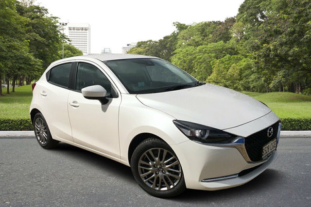 Demo Mazda 2 DJ2HAA G15 SKYACTIV-Drive Evolve, 2020 Mazda 2 DJ2HAA G15 SKYACTIV-Drive Evolve White Pearl 6 Speed Sports Automatic Hatchback