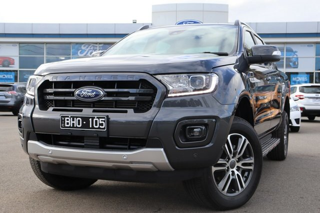 Demo Ford Ranger PX MkIII 2020.75MY Wildtrak, 2020 Ford Ranger PX MkIII 2020.75MY Wildtrak Meteor Grey 6 Speed Sports Automatic Double Cab Pick Up